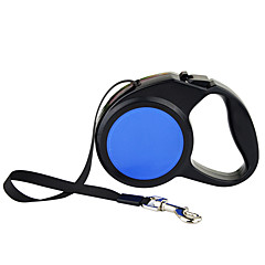 Dog Leash Automatic Solid Plastic Nylon Blue