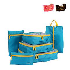 6 مجموعات حقيبة السفر منظم أغراض السفر مكعبات الترتيب تخزين السفر متعددة الوظائف سعة كبيرة ملابس النسيج الشبكي السفر
