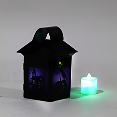 (Minta véletlenszerű) 1db halloween boszorkány lámpák jelmezes buli kellékek