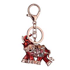 preiswerte Schlüsselanhänger-Schlüsselanhänger Rot / Blau Strass, vergoldet, Aleación Personalisiert, Geometrisch, Einzigartiges Design Für
