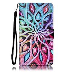 Для Кейс для Sony Бумажник для карт / Кошелек / со стендом / С узором Кейс для Чехол Кейс для Цветы Твердый Искусственная кожа для Sony