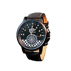 preiswerte Tolle Angebote auf Uhren-Herrn Armbanduhr Quartz 30 m Schlussverkauf / Leder Band Analog Freizeit Modisch Kleideruhr Schwarz / Braun - Schwarz / Grün Schwarz / Braun Grün