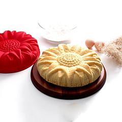 halpa -paistopinnan Flower Cartoon muotoinen Suklaa Piirakka Kakku Silikoni Ympäristöystävällinen materiaali Ekologinen Ystävänpäivä