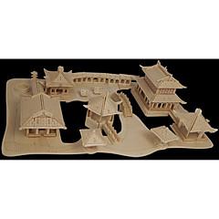 Legpuzzels Houten puzzels Bouw blokken DIY Toys Chinese architectuur 1 Hout Kristal