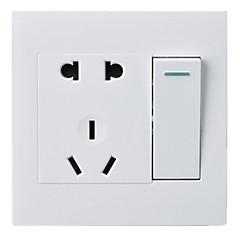 abordables Interruptores-uno abierto cinco hoyos de control doble 1 de 5 hoyos con toma de interruptor en el panel PC 86 Tipo de interruptor de pared oculta / tres