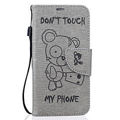olcso Galaxy S6 tokok-Case Kompatibilitás Samsung Galaxy S7 edge S7 Kártyatartó Pénztárca Állvánnyal Minta Dombornyomott Héjtok Rajzfilm Kemény PU bőr mert S7