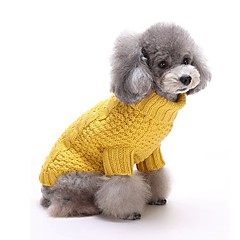 قط كلب البلوزات ملابس الكلاب كاجوال/يومي الدفء مخطط أصفر أحمر