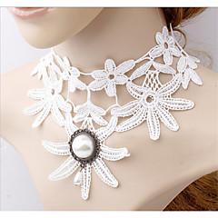 preiswerte Halsketten-Damen Halsketten / Kragen / Perlen-Strang - Perle, Spitze Tattoo Stil, Modisch Weiß Modische Halsketten Schmuck Für Hochzeit, Party / Perlenkette / Tattoo-Hals