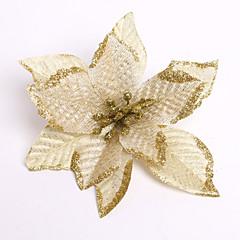 boldog Karácsonyt! Új 13cm 6 szín karácsonyi virág dekoráció művirág karácsony szülés dísz enfeite de szülés