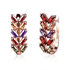preiswerte Ohrringe-Damen Synthetischer Diamant Tropfen-Ohrringe - Zirkon Diamantimitate Herz damas Modisch Schmuck Regenbogen Für Hochzeit Party Alltag Normal Sport Valentinstag