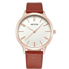 preiswerte Armbanduhren für Paare-KEZZI Armbanduhr Sender Armbanduhren für den Alltag, Cool Weiß / Schwarz / Braun