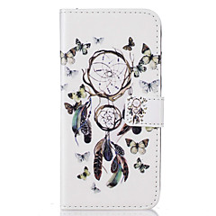 Недорогие Кейсы для iPhone 5с-Кейс для Назначение Apple Кейс для iPhone 5 iPhone 6 iPhone 7 Бумажник для карт Кошелек со стендом Флип С узором Чехол Ловец снов Твердый