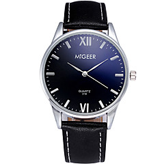 Men's Quartz Casual Fashion Watch Leather Belt Classic Business Round Alloy Dial Watch Cool Watch Unique Watch