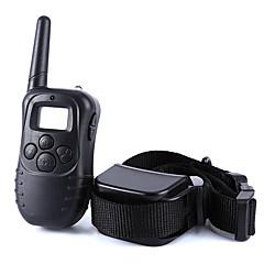 Dog Training Collar Dog Bark Collar Anti Bark 300M Remote Control Shock/Vibration Electronic LCD Display Black