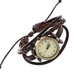 お買い得  レディース腕時計-女性用 クォーツ リストウォッチ / ブレスレットウォッチ パンク PU バンド ヴィンテージ / カジュアル / ボヘミアンスタイル / ファッション / バングル ブラウン