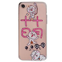 Для Прозрачный / С узором Кейс для Задняя крышка Кейс для Кот Мягкий TPU AppleiPhone 7 Plus / iPhone 7 / iPhone 6s Plus/6 Plus / iPhone