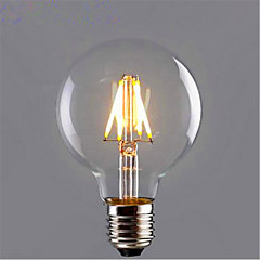 cheap LED Bulbs-1pc 6W 420 lm E26/E27 LED Filament Bulbs G95 6 leds COB Decorative Warm White Yellow AC 85-265V