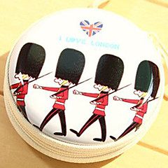 Travel Metal Cartoon British Soldiers Change Headphones Storage Box(Random Color)