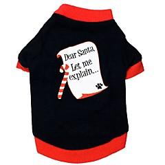 お買い得  猫の服-ネコ 犬 Tシャツ 犬用ウェア カラーブロック ブラック コットン コスチューム ペット用 男性用 女性用 カジュアル/普段着 新年 クリスマス