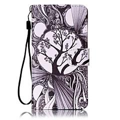Для Кейс для Sony Бумажник для карт / Кошелек / со стендом / С узором Кейс для Чехол Кейс для дерево Твердый Искусственная кожа для Sony