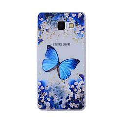 olcso Galaxy A7 tokok-Case Kompatibilitás Samsung Galaxy A5(2016) A3(2016) Minta Fekete tok Pillangó Puha TPU mert A8(2016) A5(2016) A3(2016) A8 A7 A5 A3