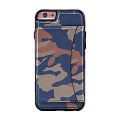 Для Бумажник для карт / со стендом Кейс для Задняя крышка Кейс для Камуфляж Твердый Искусственная кожа для AppleiPhone 7 Plus / iPhone 7