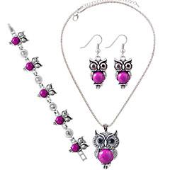 billige Damesmykker-Dame Turkis Sølv Fest Daglig Afslappet 1 Halskæde 1 Par Øreringe 1 Armbånd Kostume smykker