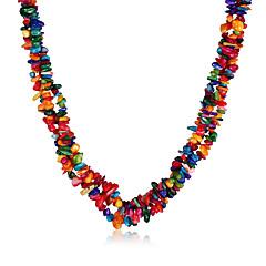 preiswerte Halsketten-Damen Kristall Halsketten - Krystall Retro, Böhmische, Boho Regenbogen Modische Halsketten Für Party, Alltag, Normal