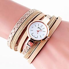 preiswerte Damenuhren-Damen Quartz Armbanduhr Armband-Uhr Mehrfarbig PU Band Charme Retro Freizeit Böhmische Modisch Cool Armreif Schwarz Weiß Blau Grau Gold