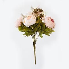 abordables Decoración de Oficina-Flores Artificiales 1 Rama Estilo europeo Peonías Flor de Mesa
