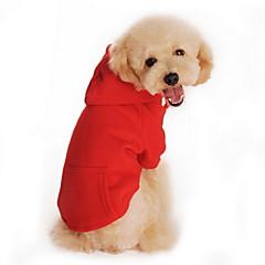 قط كلب هوديس ملابس الكلاب كاجوال/يومي الرياضات صلب أسود برتقالي رمادي أحمر رمادي/أحمر