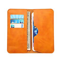 Недорогие Универсальные чехлы и сумочки-Кейс для Назначение универсальный Другое Бумажник для карт Кошелек Мешочек Сплошной цвет Мягкий Кожа PU для