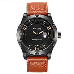 お買い得  大特価腕時計-CAGARNY ファッションウォッチ リストウォッチ エミッタ カレンダー, クール ブラック / コーヒー / Brown