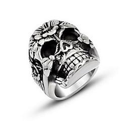 Муж. Кольцо бижутерия По заказу покупателя Титановая сталь В форме черепа Бижутерия Назначение Halloween Повседневные