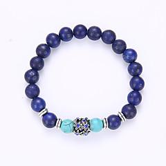 preiswerte Armbänder-Glasperlen Strang-Armbänder Yoga-Armband - Armbänder Blau Für Party Geburtstag Herzliche Glückwünsche