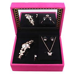 preiswerte Tolle Angebote auf Uhren-Damen Quartz Armband-Uhr Mehrfarbig Legierung Band Freizeit Schmetterling Elegant Modisch Silber Gold