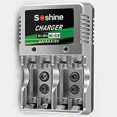 SoShine AA/AAA/9V superszybka ładowarka do akumulatorów Ni-MH/NiCd