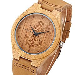 Herrn Sportuhr Militäruhr Kleideruhr Modeuhr Armbanduhr Einzigartige kreative Uhr Uhr Holz Quartz / Leder Band Vintage Cool Bequem