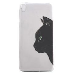 Для sony xperia e5 xa чехол для корпуса черный кошка рисунок высокая проницаемость покраска tpu материал телефон чехол