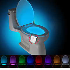 BRELONG Upgraded Waterproof Motion Activated Toilet Nightlight LED Toilet Light Bathroom Washroom DC4.5V