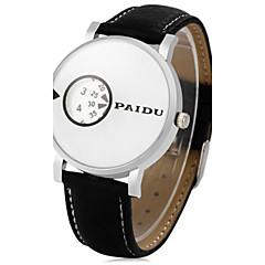 Men's Sport Watch Dress Watch Fashion Watch Wrist watch Quartz Punk Leather Band Vintage Cool Casual Black