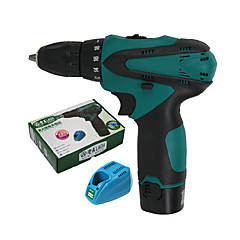 cheap Electrical & Tools-Two Electric Charge Standard Double Speed Rechargeable Electric Lithium Electric Screwdriver Hand Electric Drill LA413112