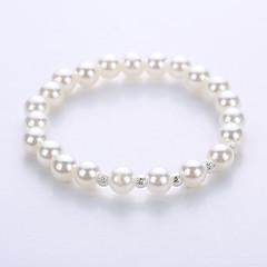 preiswerte Armbänder-Perle Strang-Armbänder Yoga-Armband - Perle, Künstliche Perle Armbänder Silber / Golden Für Party Jahrestag Geburtstag
