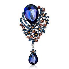 floare din aliaj de moda / stras / cristal broșe apă-picătură pini partid femei / zi cu zi / bijuterii nunta 1pc