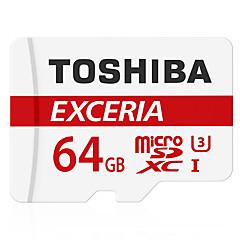 お買い得  メモリカード-Toshiba 64GB マイクロSDカードTFカード メモリカード UHS-I U3 クラス10 EXCERIA