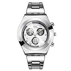お買い得  大特価腕時計-女性用 リストウォッチ 30 m 耐水 3タイムゾーン クール ステンレス バンド ハンズ ぜいたく ヴィンテージ カジュアル シルバー - ブルー ピンク ホワイト / シルバー 2年 電池寿命