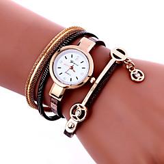 お買い得  大特価腕時計-女性用 ブレスレットウォッチ リストウォッチ クォーツ クール PU バンド ハンズ チャーム ヴィンテージ カジュアル ブラック / 白 / ブルー - レッド ブルー ピンク