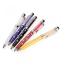 iPhone / iPod / iPadの/サムスンや他のためのszkinston 5-IN-1ダイヤモンドの花の結晶容量スタイラスのタッチスクリーンペンボールポイント容量ペン