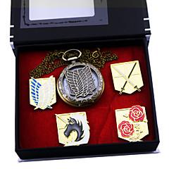 Ceas/Ceas de Mână / Insignă Inspirat de Atac pe Titan Eren Jager Anime Accesorii Cosplay Insignă / Ceas/Ceas de Mână Auriu Aliaj