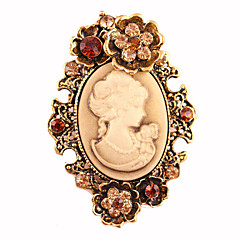 retro manera de la aleación / rhinestone broches de las mujeres pin elegante accesorio / diario / joyería ocasional partido 1pc
